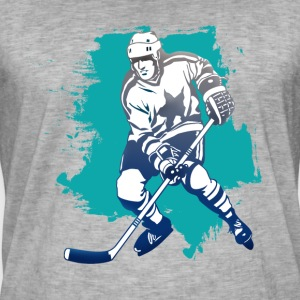 hockey puck hockey player attacking cool polar bears - Men's Vintage T-Shirt
