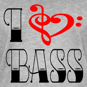I LOVE BASS - Mannen Vintage T-shirt