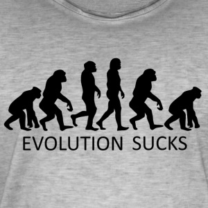++ ++ Evolution Sucks - Maglietta vintage da uomo