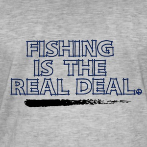 Fishing is the real Deal - Fishing Addict - Männer Vintage T-Shirt