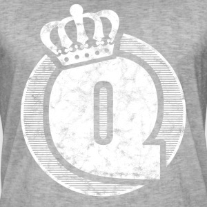 Stylish letter Q with crown - Men's Vintage T-Shirt