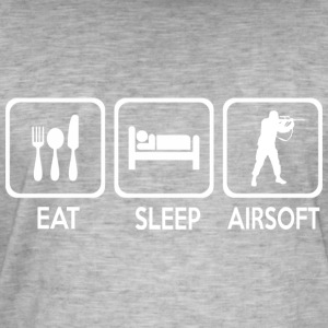 eat sleep airsoft - Camiseta vintage hombre