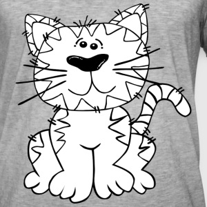 Comic Manga Cat Kitty Mitz killing sød meow - Herre vintage T-shirt