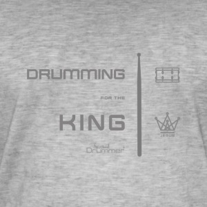 Drumming for the King - T-shirt vintage Homme