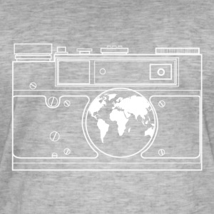 The world through the lens. - Men's Vintage T-Shirt