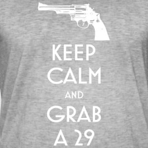 Keep Calm and Grab a 29 revolver t-shirt - Men's Vintage T-Shirt