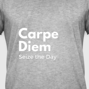 CARPE DIEM white - Men's Vintage T-Shirt