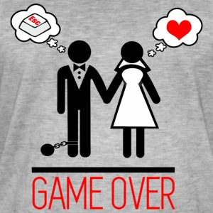 Game over - Paar - Bachelor - Mannen Vintage T-shirt