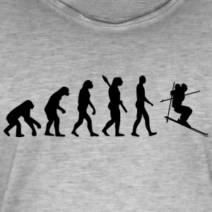 Evolution ski skier ski slope b - Men's Vintage T-Shirt