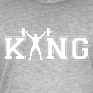 Bodybuilder King - Men's Vintage T-Shirt