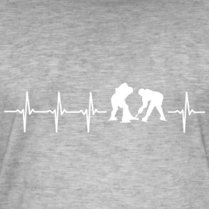 I love hockey (ice hockey heartbeat) - Men's Vintage T-Shirt
