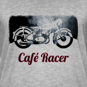 cafe-racer motorcycle Vintage Club Bike Biker smoke - Men's Vintage T-Shirt