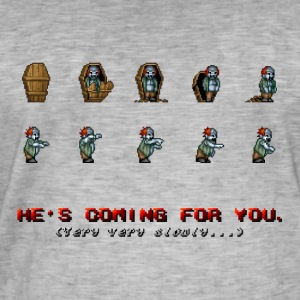 Pixel Zombie Coffin Animation - Mannen Vintage T-shirt
