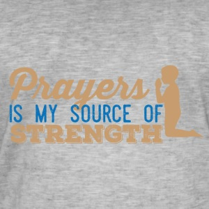 Prayers my Source of Strength - Men's Vintage T-Shirt