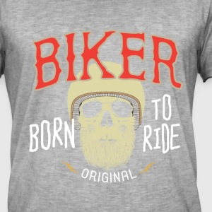 Born to Ride - Vintage-T-skjorte for menn