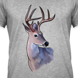 malt Deer - Vintage-T-skjorte for menn