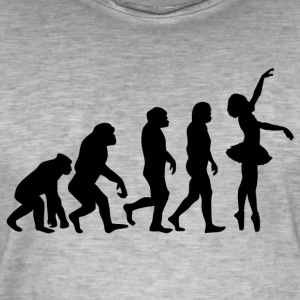 ++ ++ BALLET EVOLUTION - Vintage-T-skjorte for menn