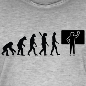 Evolution lärare lärare School Black - Vintage-T-shirt herr