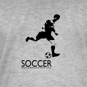 Soccer International - Vintage-T-skjorte for menn