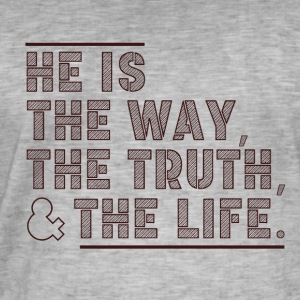 The Way - The Truth - The Life - Men's Vintage T-Shirt