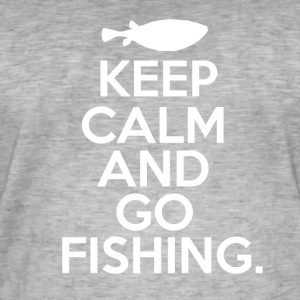 Keep Calm - Go Fishing - Mannen Vintage T-shirt