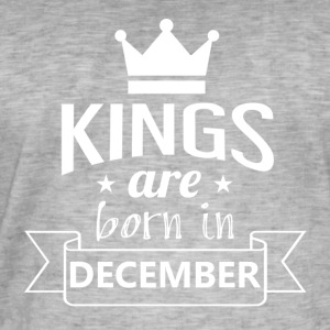 KINGS geboren in december - Mannen Vintage T-shirt