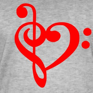 clef LOVE - Vintage-T-skjorte for menn