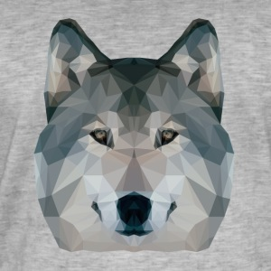 Low Poly Wolf - Vintage-T-skjorte for menn