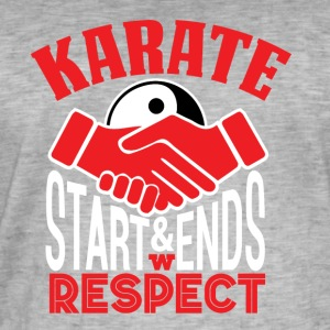 Karate Respect - Mannen Vintage T-shirt