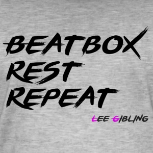 Beatbox Rest Gjenta - Large - Vintage-T-skjorte for menn