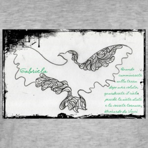 elegant eagle - Vintage-T-skjorte for menn