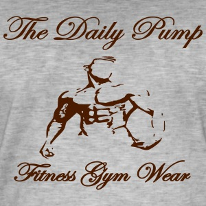 The Daily Pump male model - Men's Vintage T-Shirt