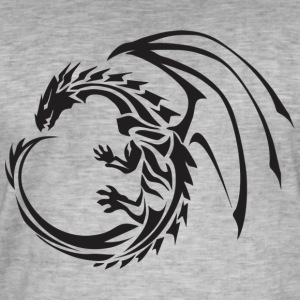 dragon 1 - Mannen Vintage T-shirt