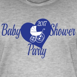Blue Baby Shower Party - Men's Vintage T-Shirt