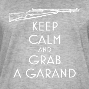 Keep Calm and Grab a Garand T-Shirt preppers - Men's Vintage T-Shirt