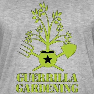 Guerrilla gardening logo military style T-shirt - Men's Vintage T-Shirt