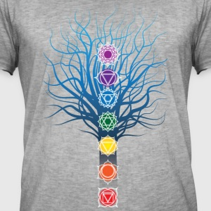 7 chakras on Tree - Men's Vintage T-Shirt