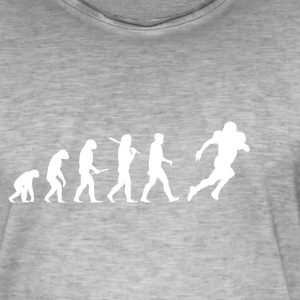 Evolution Voetbal! American Football! grappig! - Mannen Vintage T-shirt
