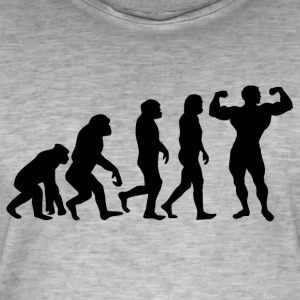 ++ ++ BODYBUILDING EVOLUTION - Men's Vintage T-Shirt