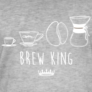BREW KING - Herre vintage T-shirt
