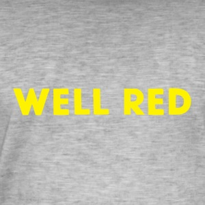 Well Red - Mannen Vintage T-shirt