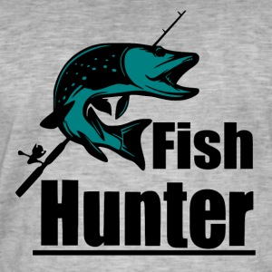 Fish Hunter - Fiske - Vintage-T-skjorte for menn