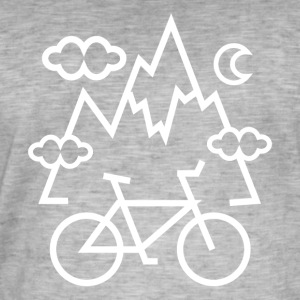 BIKE HILLS - Vintage-T-skjorte for menn