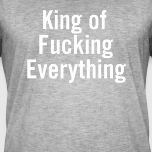 King of Fucking Allt Vit - Vintage-T-shirt herr