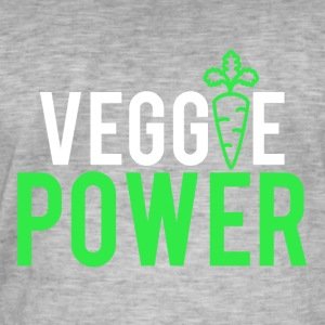 VEGGIE POWER - Herre vintage T-shirt
