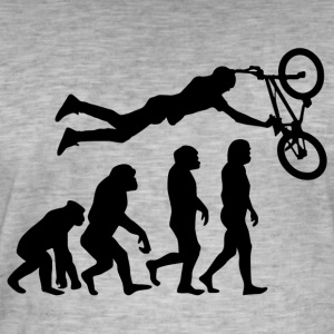++ ++ EVOLUTION BIKER - Men's Vintage T-Shirt