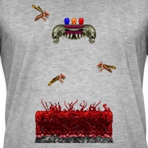 Pixelart Horror Game Scene - Men's Vintage T-Shirt