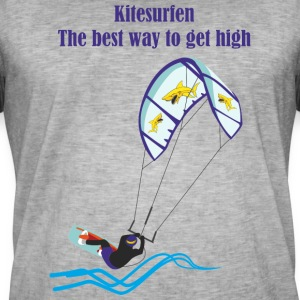 Kitesurfing The best way - Men's Vintage T-Shirt
