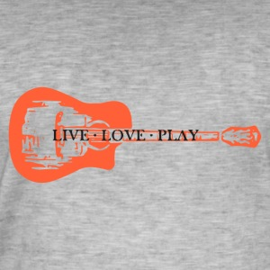guitar live love play - Men's Vintage T-Shirt