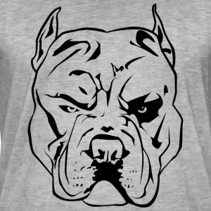 Aggressiv Pitbull - Vintage-T-skjorte for menn